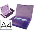 Pasta de elasticos beautone com lombada rigida a4. frosty violeta