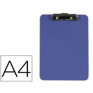 Porta notas q-connect plastico din a4 azul 3 mm