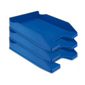Tabuleiro secretaria plastico q-connect. azul opaco