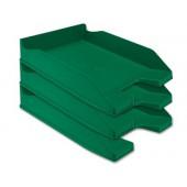 Tabuleiro secretaria plastico q-connect. verde opaco