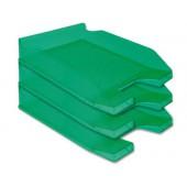 Tabuleiro secretaria plastico q-connect. verde transparente