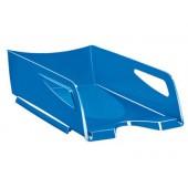 Tabuleiro de secretaria cep maxi de grande capacidade 386x270x115 mm plastico azul