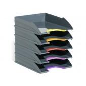 Bandeja secretaria durable plastico cinza 255x55x330 mm pack de 5 unidades