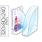 Porta revistas cep confort ice blue plastico celeste transparente