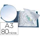 Bolsa multiperfurada q-connect din a3 ao baixo 80 microns cristal com abertura superior - bolsa de 10