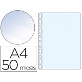 Bolsa catalogo multiperfurada a4 q-connect 50 microns cristal - bolsa com 100