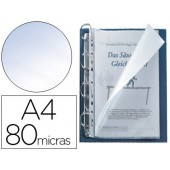 Bolsa multiperfurada q-connect din a4 80 microns cristal com abertura superior e lateral esquerda - bolsa de 25