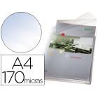 Bolsa catalogo esselte com fole din a4 com aba superior pvc 170 microns capacidade 200 folhas