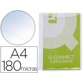 Bolsa multiperfurada q-connect com fole din a4 pvc 180 microns - bolsa de 5