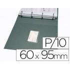 Bolsa autoadesiva q-connect para cartoes de visita 60x95mm pack de 10 unidades