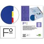 Separadores de plastico liderpapel. folio natural. 10 separadores