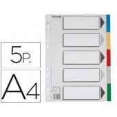 Separador esselte de plastico conjunto de 5 separadores din a4 com 5 cores multiperfurado