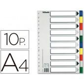 Separador esselte de plastico conjunto de 10 separadores din a4 com 5 cores multiperfurado