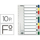 Separador esselte de plastico conjunto de 10 separadores folio com 5 cores multiperfurado