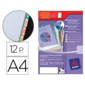 Separadores avery de plastico com 12 pestanas de indice personalizavel formato a4