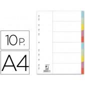 Separadores de cartolina. q-connect. a4. 10 separadores