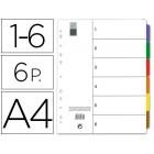 Separadores maxi avery din-a4 c/bolsa porta-documentos jogo de 12 separ. multiperfurados