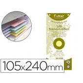 Separador exacompta cartolina de 180 gr conjunto de 100 separadores 105x240 mm com 12 furos cor amarelo