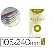 Separadores exacompta cartolina reciclado conjunto de 100 separadores 105x240 com furos cores sortidas