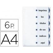 Separadores de cartolina avery 6 separadores din-a4