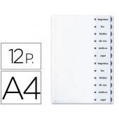 Separadores de cartolina averyi 12 separadores din-a4