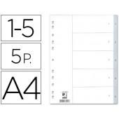 Separadores numericos q-connect. a4. com 5 separadores