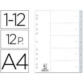 Separadores numericos q-connect. a4. com 12 separadores