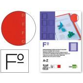 Separador liderpapel plastico alfabetico a-z folio 16 furos conjunto