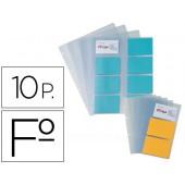 Pack 10 bolsas esp. capa porta-cartoes de visita pardo