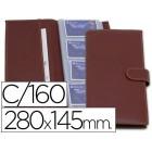 Porta cartoes artesania de pele capacidade 160 cartoes visita 280x145 mm