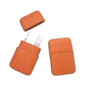 Porta-cartoes de visita pele artesanal cap.+/- 20-25 unidadesidade.