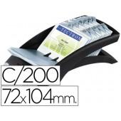 Porta-cartoes de visita de mesa dura clip visafix - preto