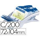 Porta-cartoes de visita de mesa dura clip visafix - prata