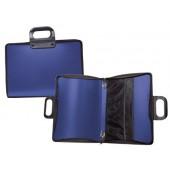 Bolsa portadocumentos liderpapel azul com asa e fecho 400x45x375 mm