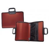 Bolsa portadocumentos liderpapel vermelha com asa e fecho 400x45x375 mm