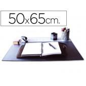 Base secretaria q-connect. pvc. preta.500x650 mm.