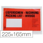 Envelope auto adesivo q-connect porta documentos multilingue 232x171 mm janela direita -pack de 100 unidades-
