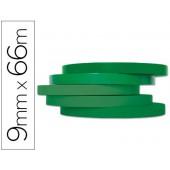 Fita adesiva q-connect 66m x 9mm verde para fechar sacos