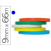 Fita adesiva tesa film 66 mt x 9 mm azul -para fechar bolsas
