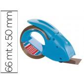 Porta rolo tesa embalagem para rolos de 66 mt x 50 mm azul inclui 1 rolo fita castanha baixo ruido 66 mt x 50 mm