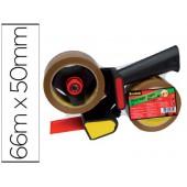 Portarolos para embalagem scotch heavy duty baixo ruido + 2 rolo fitas castanho 50mmx66 mt