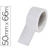 Fita adesiva branca 66 mt x 5 cm.