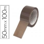 Fita adesiva q-connect pvc havana 100 mt x 50 mm -para embalagem baixo ruido