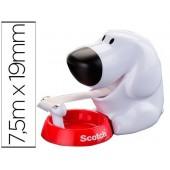 Portarolos secretaria scotch doggy c31 de 19mm x7.5 mt inclui rolo de fita magic