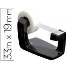 Desenrolador de secretaria tesa plastico preto para rolos de ate 33mx19mm