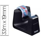Porta rolo de secretaria tesa plastico easy cut smat preto para rolo de 33mx19 mm