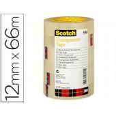 Fita adesiva scotch transparente12mmx66 mt pack de 12