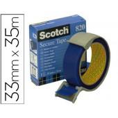 Fita adesiva postal azul. 35mt x 33mm