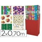Papel fantasia natal rolo 2 x 0.70 mt 60 gr modelos sortidos