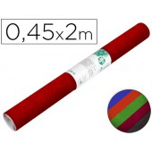 Rolo adesivo liderpapel veludo cores sortidas rolo de 0.45 x 2 mt